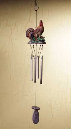 34062 Rooster Wind Chime