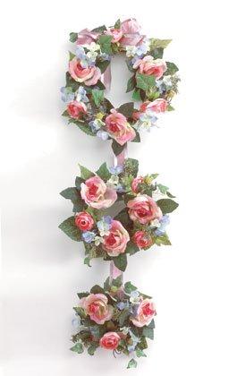 34076 Fabric Flower Wreath Display