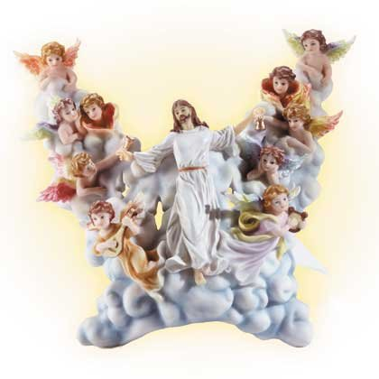 34099 Jesus in Clouds Wall Light