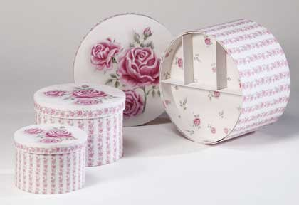 34107 3 Piece Victorian Rose Boxes
