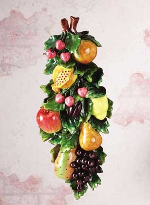 34111 Mixed Fruits Wall Plaque