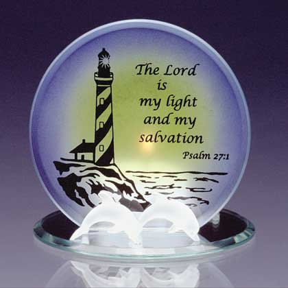 34125 Glass Psalm 27 1 Candleholder