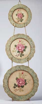 34129 Metal Rose Plate Set