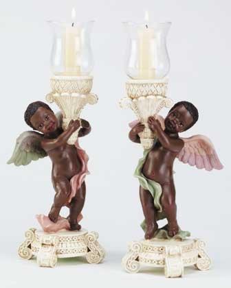 34135 Cherub Candle Holders (Pair)