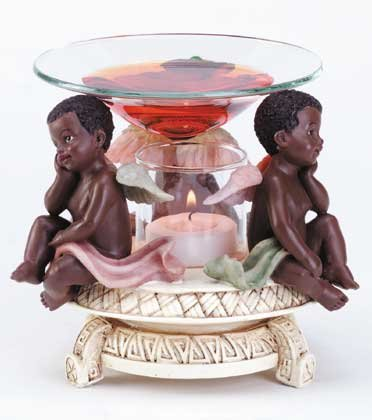 34136 Cherubs Oil Warmer