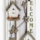 34143 Wood Picket Fence Welcome Sign