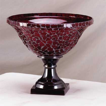 34162 Red Glass Mosaic Bowl