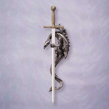 34191 Sword and Dragon Wall Plaque