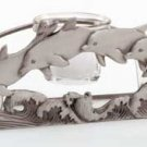 34201 Pewter Dolphin Three-Votive Holder