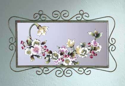 34226 Victorian Flowers Wall Mirror