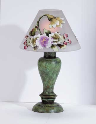 34227 Victorian Flowers Candle Lamp