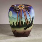 34236 Ceramic Southwest Eagle Vase