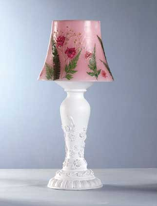 34284 Dried Flowers Candle Lamp