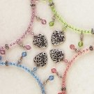 34296 4 Beaded Chokers with Heart Pendant (Retail - 4.99ea)