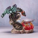 34304 Dragon and Flames Oil Warmer
