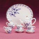 34311 Blue and White Miniature Tea Set