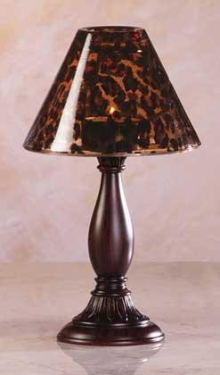 34319 Safari Glass Shade Candle Lamp