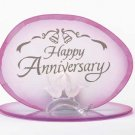 34360 Glass Happy Anniversary Candleholder