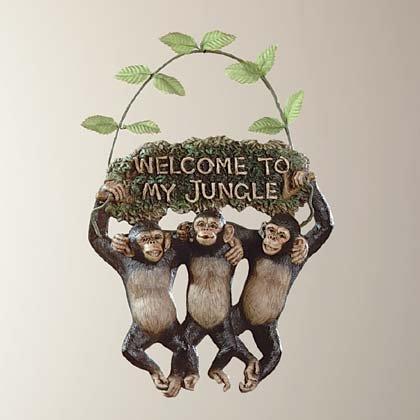 34512 Monkeys Welcome Sign
