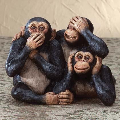 34513 See, Hear, Speak No Evil Happy Monkeys