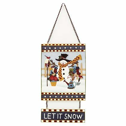 34583 Snowman Wall Plaque