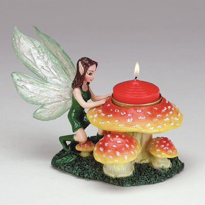 34588 Fairy and Mushroom Candle Holder