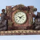 34614 Bear and Pine Cone Desk Clock