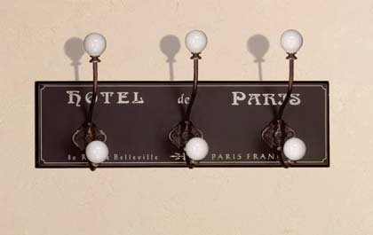 34631 Hotel de Paris Wood Coat Hanger