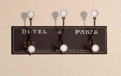 34631 Hotel de Paris Wood Coat Hanger