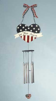 34670 Heart Shape Americana Wind Chime