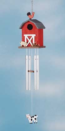 34719 Wood Barn Wind Chime