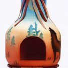 34741 Wolf Design Chimenea Candle Holder