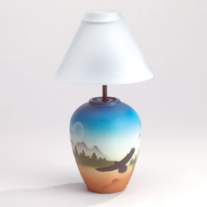 34742 Eagle Flying Vase Candle Lamp