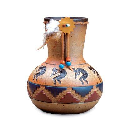 34746 Kokopelli Design Vase