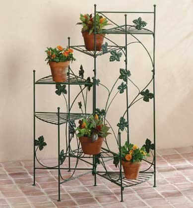 34764 Metal Ivy Design Plant Stand
