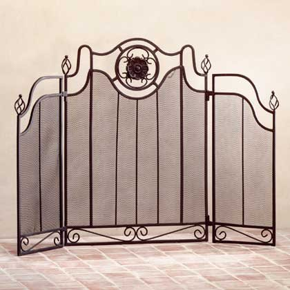 34770 Metal Fireplace Screen