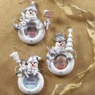 34821 Snowman Photo Frame Ornaments