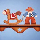 34826 Cowboy and Rocking Horse Wall Shelf