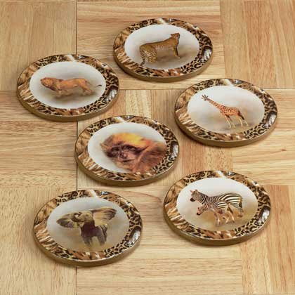 34865 Safari Animals Patchwork Coasters