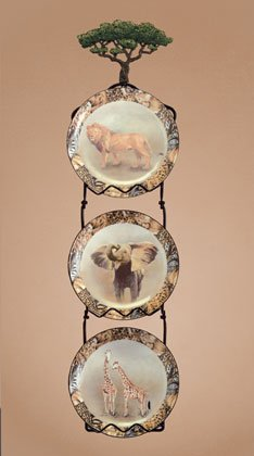 34868 Safari Animals Plate Set with Rack