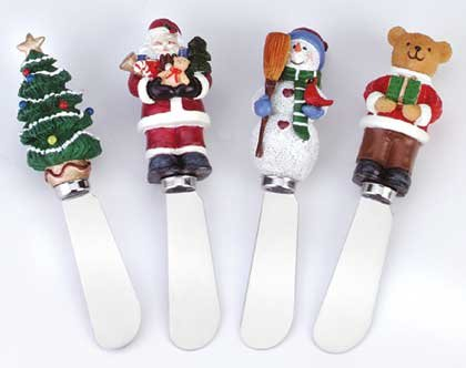 34844 Holiday Design Cheese Spreaders