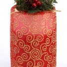 34880 Tall Two-Tone Red Pillar Candle