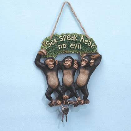 35003 See, Hear, Speak Monkeys Keyholder