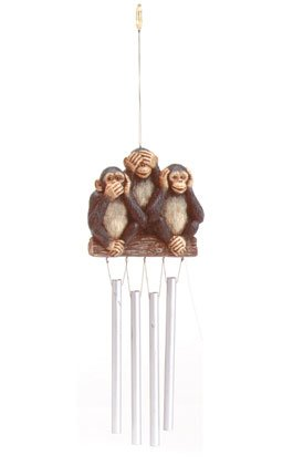 35005 3 Monkeys On Log Chimes