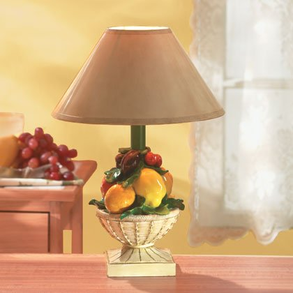 35028 Mixed Fruit Basket Lamp