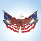 35030 Eagle On Flag Wall Plaque