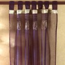 35025 Gold Embroidered Purple Curtain