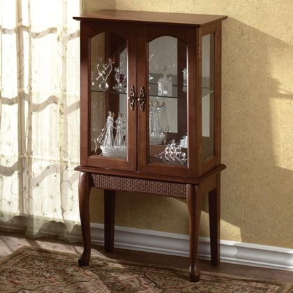 35038 Wood Curio Cabinet