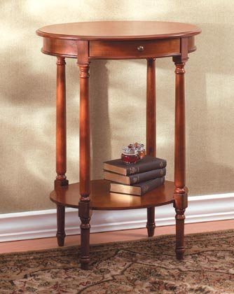 35040 Wood Oval Occasional Table