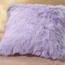 """35046 Lavender Faux Fur Pillow - 17"""""""